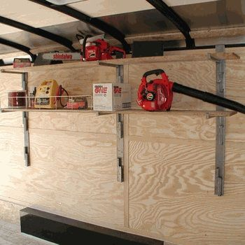 adjustable shelf kit for side wall ( rackem ) - landscape & enclosed Side Wall Shelves
