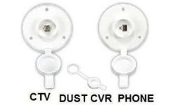 CABLE TV AND PHONE ROUND PLATE