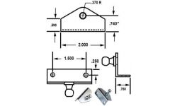 GAS SPRING ANGLED MOUNTING BRACKETS