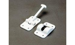 """DOOR HOLD BACK T-STYLE PLASTIC 3-1/2"""""""