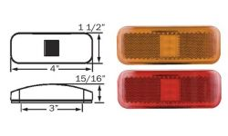Surface Mount LED Marker/Clearance Lights with Reflex