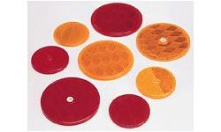 REFLECTORS ROUND W/CENTER MOUNT HOLES & ADHESIVE BACK